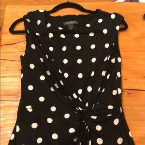 Ralph Lauren polka dot dress, sz 12